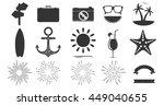 set of vintage summer badges... | Shutterstock .eps vector #449040655