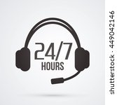 call center  24 hours a day and ... | Shutterstock .eps vector #449042146