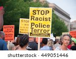 washington july 7   protesters... | Shutterstock . vector #449051446