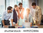 group of business people... | Shutterstock . vector #449052886