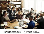 business team working office... | Shutterstock . vector #449054362