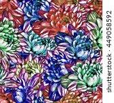 chrysanthemum. seamless... | Shutterstock . vector #449058592