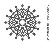 abstract flower.ornament... | Shutterstock . vector #449060542