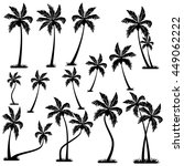 palm trees vector | Shutterstock .eps vector #449062222