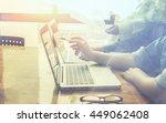 business plan and team work... | Shutterstock . vector #449062408
