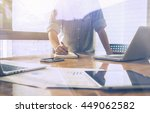 Small photo of Start up businessman Determine Ideas Writing Working,Architecture Interior Designer Meeting Concept Design Ideas,working document,laptop,Discussion Corporate,vintage color,selective focus
