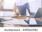start up businessman determine...   Shutterstock . vector #449062582