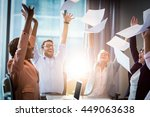 business people celebrating by... | Shutterstock . vector #449063638