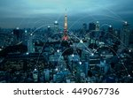 city scape and network... | Shutterstock . vector #449067736