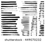 set of different grunge brush... | Shutterstock .eps vector #449070232