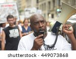 Small photo of NEW YORK CITY - JULY 7 2016: Several thousand activists rallied & marched to protest recent police-involved shootings in Minnesota & Louisiana.
