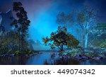 3d illustration of landscape... | Shutterstock . vector #449074342