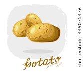 potato stock vector illustration | Shutterstock .eps vector #449075476