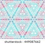 ethnic seamless pattern. ethnic ... | Shutterstock . vector #449087662