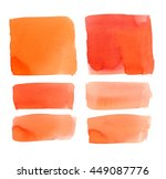 collection of watercolor... | Shutterstock . vector #449087776