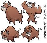 vector illustration of cartoon... | Shutterstock .eps vector #449096242
