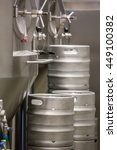 close up of distillery and keg... | Shutterstock . vector #449100382