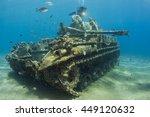 tank  m42 anti   aircraft...   Shutterstock . vector #449120632