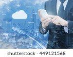 double exposure of professional ... | Shutterstock . vector #449121568