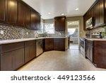 modern kitchen interior with... | Shutterstock . vector #449123566