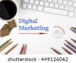 digital marketing. white office ... | Shutterstock . vector #449126062