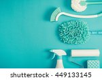 cleaning tools layout | Shutterstock . vector #449133145