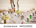 place on a banquet table for a... | Shutterstock . vector #449133502