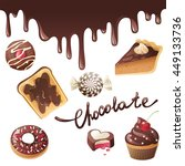 chocolate icons set | Shutterstock . vector #449133736