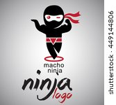 macho ninja logo | Shutterstock .eps vector #449144806