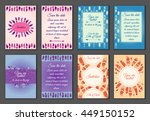 set of boho ornament... | Shutterstock .eps vector #449150152