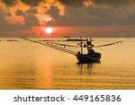 Local Thai Fishing Boat On Sea