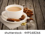 indian masala chai tea  spiced... | Shutterstock . vector #449168266