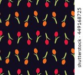 floral background with tulips... | Shutterstock .eps vector #449168725