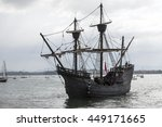 Wooden Galleon In The Middle O...
