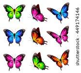 butterflies design | Shutterstock .eps vector #449174146