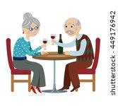 happy cartoon grandparents...   Shutterstock . vector #449176942