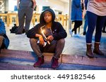 kahari a. keeps a candle lit in ... | Shutterstock . vector #449182546