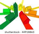 seven houses certified in seven ...   Shutterstock .eps vector #44918863