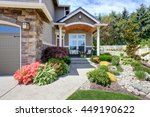 home exterior with garage and... | Shutterstock . vector #449190622