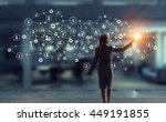 social networking technologies .... | Shutterstock . vector #449191855