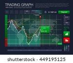hud ui for business app. binary ... | Shutterstock .eps vector #449195125