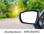 side rear view mirror on a car. | Shutterstock . vector #449196592