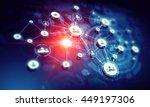 social networking scheme .... | Shutterstock . vector #449197306