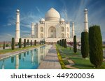 the taj mahal is an ivory white ... | Shutterstock . vector #449200036