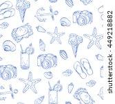 sketches of vector. beach... | Shutterstock .eps vector #449218882