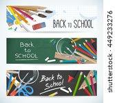 back to school. set vector... | Shutterstock .eps vector #449233276