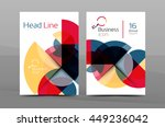 brochure template of annual... | Shutterstock .eps vector #449236042