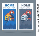home inspection vector business ... | Shutterstock .eps vector #449236882