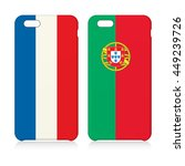 phone covers set with flags of... | Shutterstock .eps vector #449239726