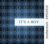 boy vector baby card | Shutterstock .eps vector #44924515